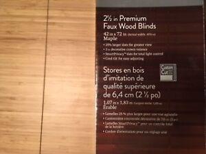 Stores bois érable imitation qualité supérieure-Faux Wood Blinds