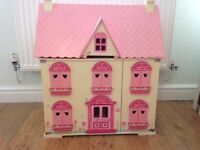 Beautiful wooden dolls house with accessories