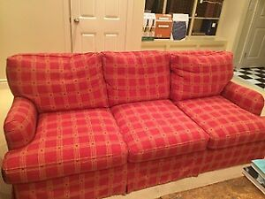 Super comfy three seat sofa with pullout queen size bed