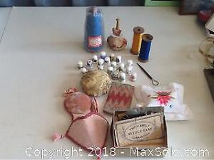 Lot Of Antique And Vintage Sewing Tools