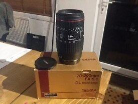 Sigma 70-300mm f4-5.6 dg macro camera lens for Canon AF
