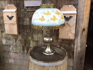 Hand Painted Lamp For Sale