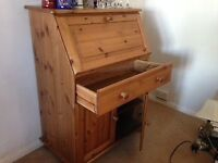 Pine desk free to collector