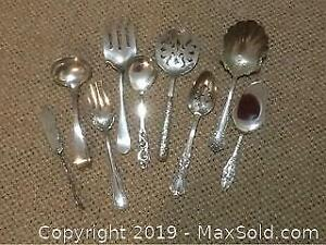9 Silver Plated Serving Utensils