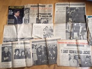JFK assassination magazine and papers