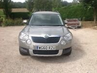 SKODA YETI, 2.0 l TDI ,CR SE. GOOD CONDITION, WITH 8 MONTHS MOT, SERVICE .
