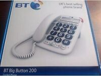 BRAND NEW BOXED BT BIG BUTTON 200 PHONE