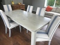 Grey Dining Table and 6 Chairs