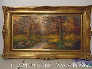 Framed Oil Painting Made in Germany