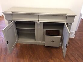 Antique French Cabinet Sideboard - Vintage Shabby Chic