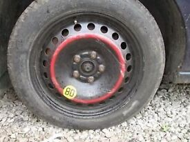 FORD FOCUS MK 4 SPACE SAVER STEEL WHEEL INC TYRE 5 STUD 16""