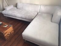 Modern corner sofa in good condition with removable covers