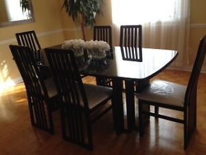Italian Lacquer Dining Room Set