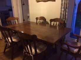 Darl Solid Wood 6-8 Seater Dining Table