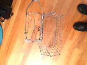 bike metal pannier rack and side basket $15
