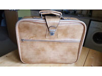 Gorgeous real leather beige suitcase by Boots. Only £5