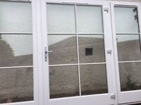 Double glazed hardwood timber traditional windows white brand new sold due to size