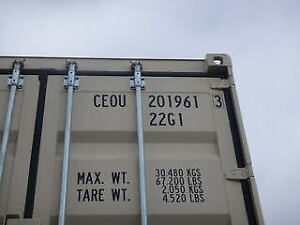 1 x New (1-trip) 20' Shipping Container