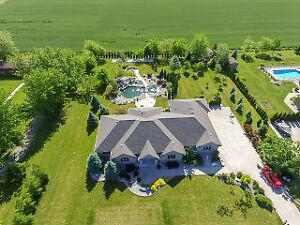 Rare Custom Ranch On 1.38Acres in Prime Lakeshore Area