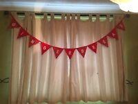 Decoration garlands gingerbread,handmade 50p a flag free postage, 5.50 each garland