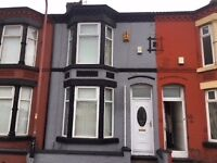 newly decorated and carpeted 3 bed end terrace, L20 5EN, GCH, D/Glazing, Unfurn, close to Strand