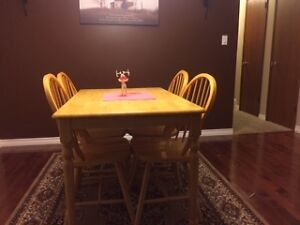 Dining room table with 4 chairs Regina Regina Area image 1
