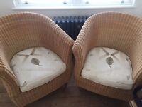 2 x Wicker Armchairs