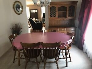 dining room set with hutch