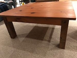 Knotted Pine coffee table and 2 side tables
