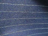 10M upholstery cloth fabric heavy weight weave Navy light blue pin stripe Cost over £250
