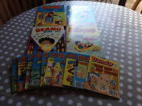 Small group of Beano Annuals and Beano Comic Library booklets.