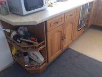 Complete Oak effect kitchen