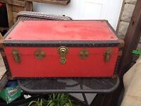 Oriental-style large shabby chic storage trunk, Southbourne