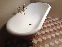 Bathroom Suite - Cast Iron Roll Top bath, Wash Basin & Toilet