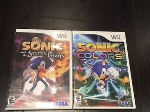 Pre-Owned Sonic Wii Games (Secret Rings, Colors)