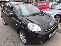 2011/61 NISSAN MICRA 1.2 12V ACENTA CVT 5DR AUTOMATIC,BLACK,HIGH SPEC,LOOKS AND DRIVES WELL