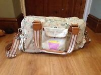 Yummy Mummy Pink Lining Changing bag with changing mat