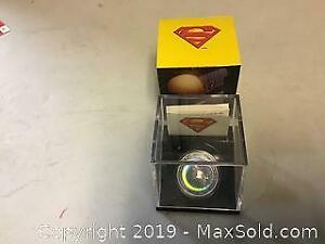 Twenty dollar silver Superman coin