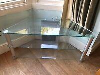 Glass and metal Corner TV Stand, Free