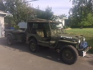 1952 M38A Jeep and Trailer