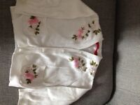 White flowered cardigan 18-24 months