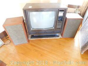 Sears Television And Speakers B
