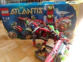 LEGO ATLANTIS set 8077 laboratory transforms to sub- complete boxed set