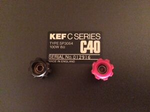 KEF C40 speakers with stands