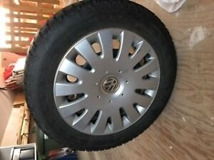 winter tires on steel rims for volkswagen golf