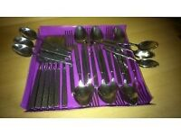 24 piece Stainless Steel Cutlery. Strong not Flimsy. Extra cutlery for Xmas