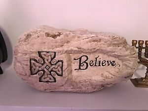 CELTIC GARDEN STONE - BELIEVE