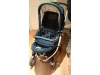 I'Coo Pii complete travel system including carrycot, pram and car seat
