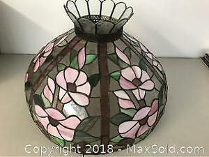 Floral Stain Glass Lamp Shade