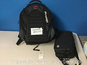 JVC Camera Backpack and NAI Carrying Case